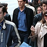 Kevin Bacon filmed scenes for The Following in NYC on Monday.