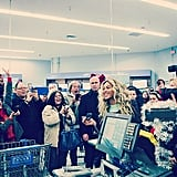 Beyoncé surprised fans while shopping at a Walmart in Tewksbury, MA — and then gave them each $50 toward their purchases! Source: Instagram user beyonce