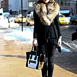 For blustery days, a fur accent is just as glam as it is warm.