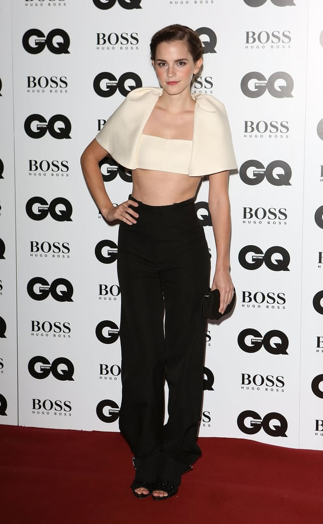 Emma Watson walked the red carpet at the GQ Men of the Year Awards ...