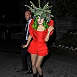 Lady Gaga in Christmas Tree Outfit in London in 2013