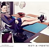 Street-style photographer Garance Doré kicks back in Stella McCartney for luxe online retailer Net-a-Porter's Fall ads.