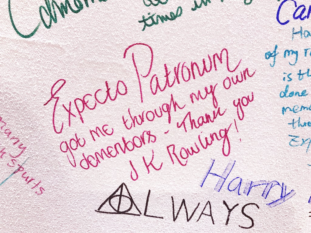 """Expecto Patronum got me through my own dementors."""