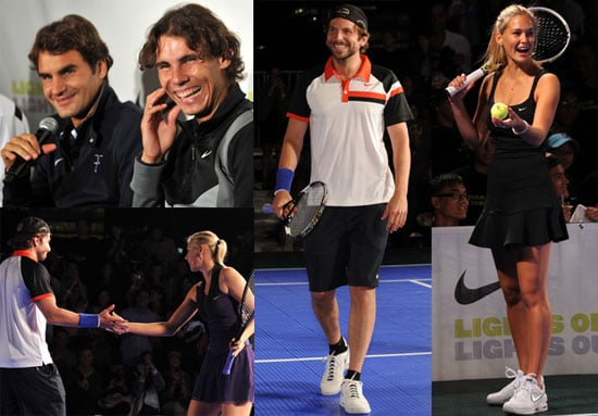 Pictures of Roger Federer, Bar Refaeli, Bradley Cooper, and Rafael Nadal at Knockout Tennis Tournament