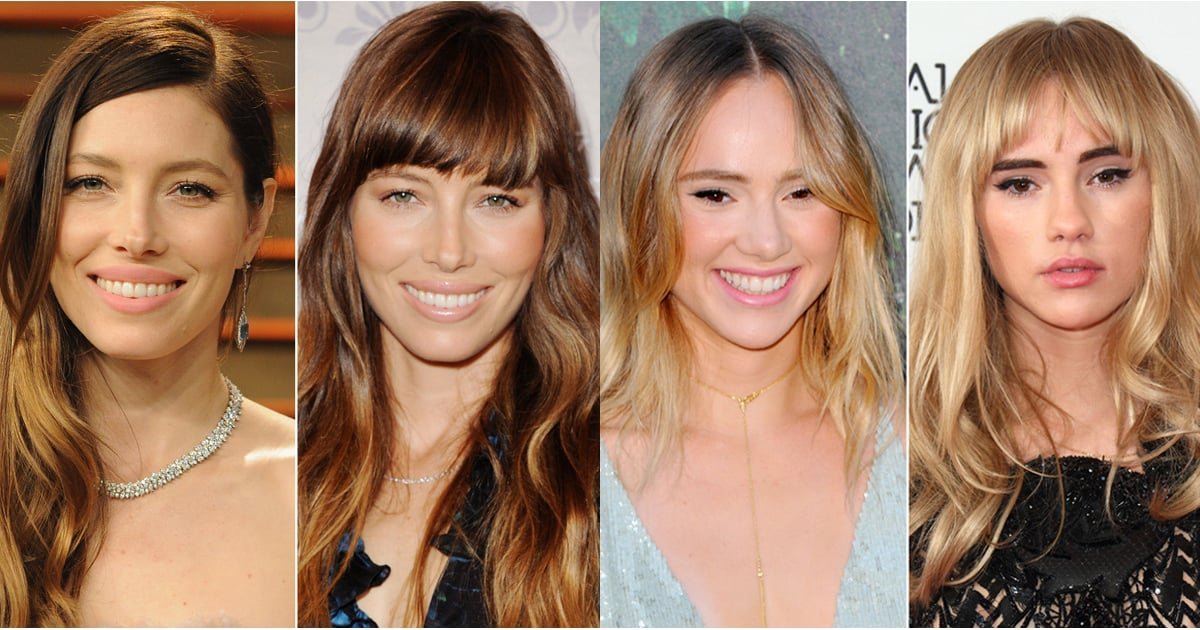 Photos Of Celebrities With And Without Fringes Popsugar Beauty Uk