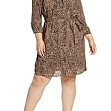 1.STATE Leopard Print Shirtdress