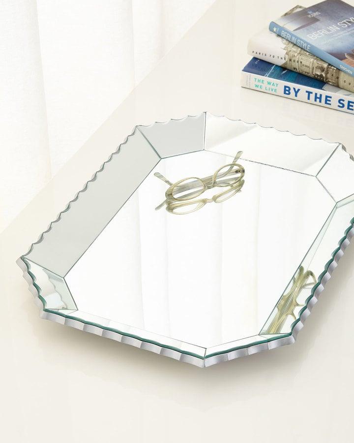Scalloped-Edge Mirrored Tray ($195)