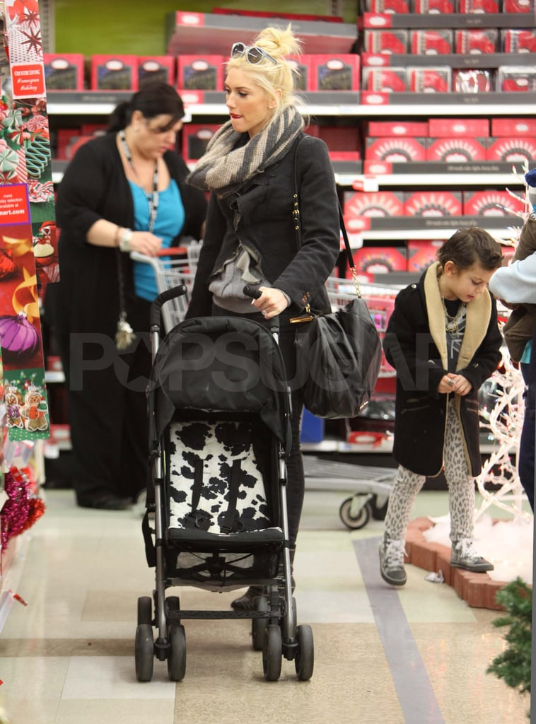 Gwen Stefani shopping at Sears with Kingston Rossdale.