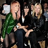 Kate Moss and friend Annabelle Neilson during London Fashion Week.