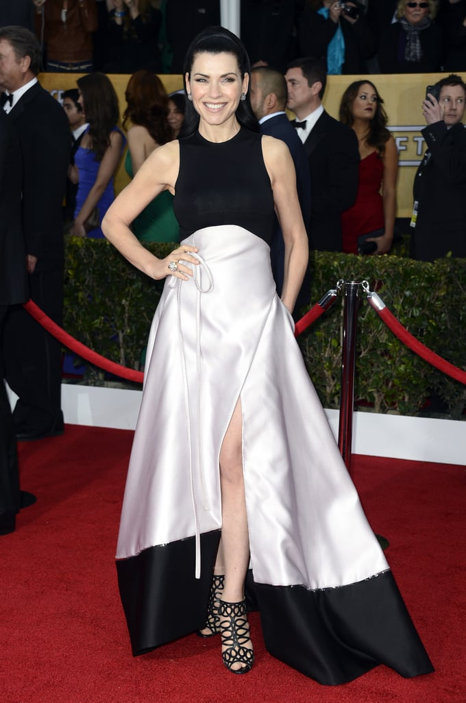 Julianna Margulies looked stunning on the red carpet at the SAG Awards on Sunday.