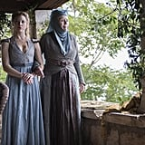 Natalie Dormer as Margaery Tyrell and Diana Rigg as Olenna Tyrell.