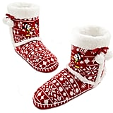 Mickey Mouse Holiday Slipper Boots