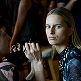 """""""I was inspired by a lounge singer like Lena Horne,"""" explained key makeup artist Kabuki for MAC. """"A woman who has the strength to do something like that but is also living this fantasy."""" The makeup team focused on colour palettes more than specific hues, so that every model had a customised look."""