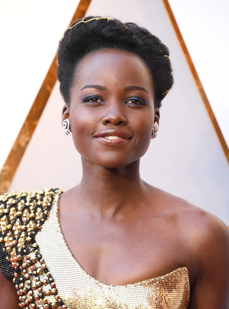 Lupita Nyong'o Hair and Makeup at the 2018 Oscars