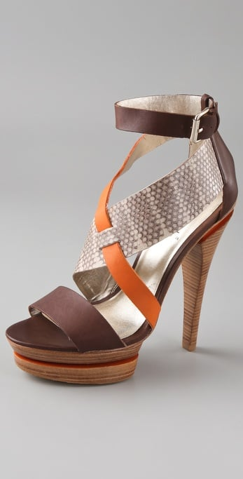 The mix of textures and colors on this Pelle Moda Sandal ($180), is a little bit ethnic-inspired and completely chic.