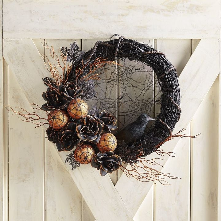 pier 1 imports gothic glam lace halloween oversized wreath halloween decorations from pier 1 imports popsugar home photo 5 - Pier 1 Halloween