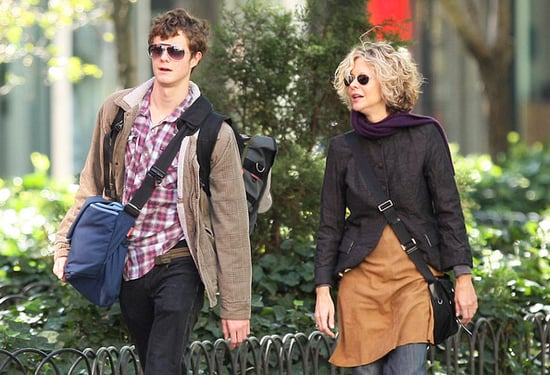 Meg Ryan & son Jack Walking To NYU Campus