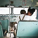 In a Vintage Bus