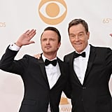 Aaron Paul and Bryan Cranston couldn't stop goofing around.