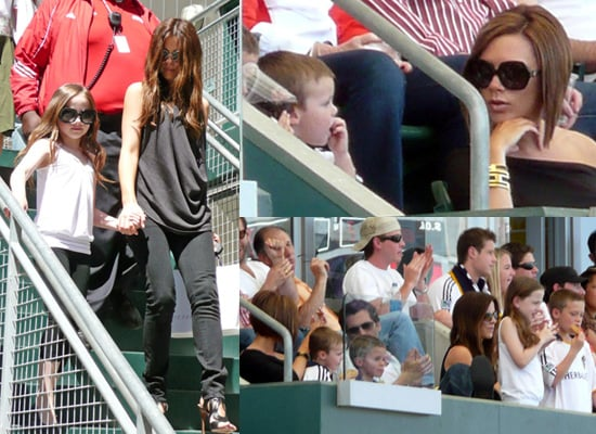 Victoria Beckham and Kate Beckinsale Take Lily, Romeo, Cruz and Brooklyn to Watch David Beckham Play for LA Galaxy