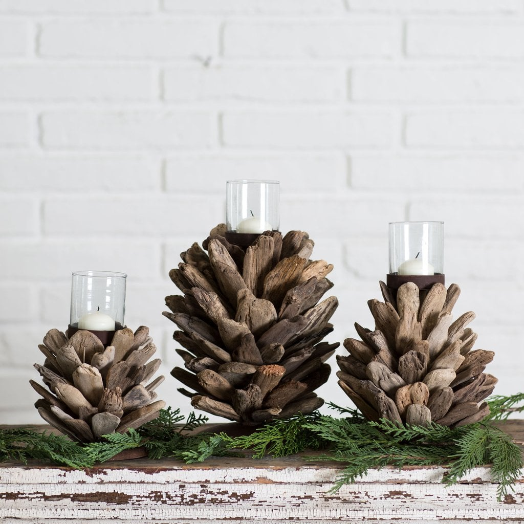 Driftwood Candle Holder 52 Magnolia Market Christmas Collection