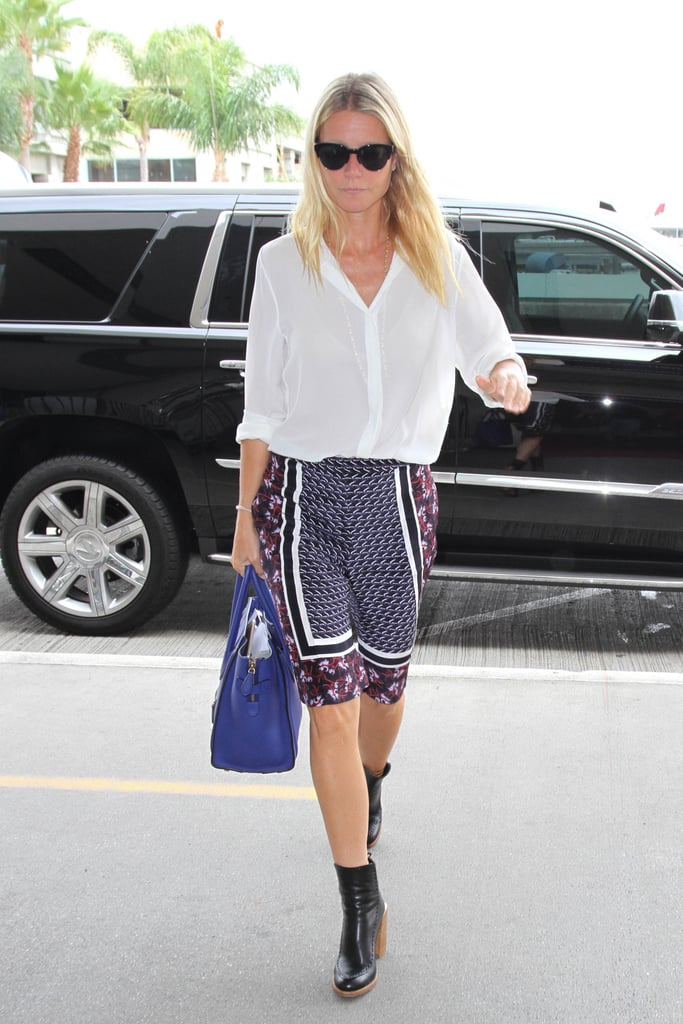 Gwyneth's favorite Céline, the luggage tote, works well with breezy button-downs and printed shorts.