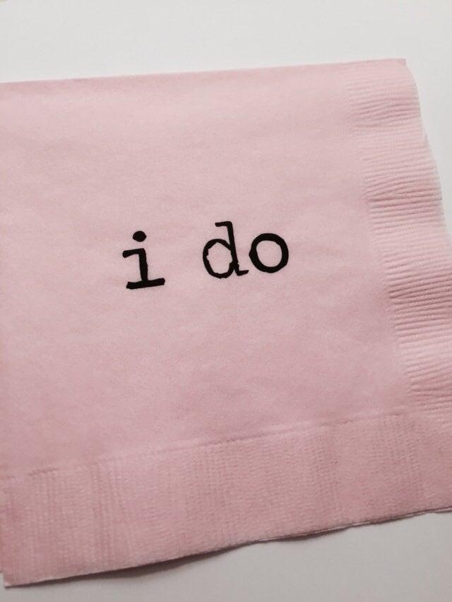"""""""i do"""" Napkins"""