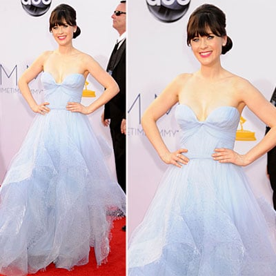 Zooey Deschanel at the Emmys 2012