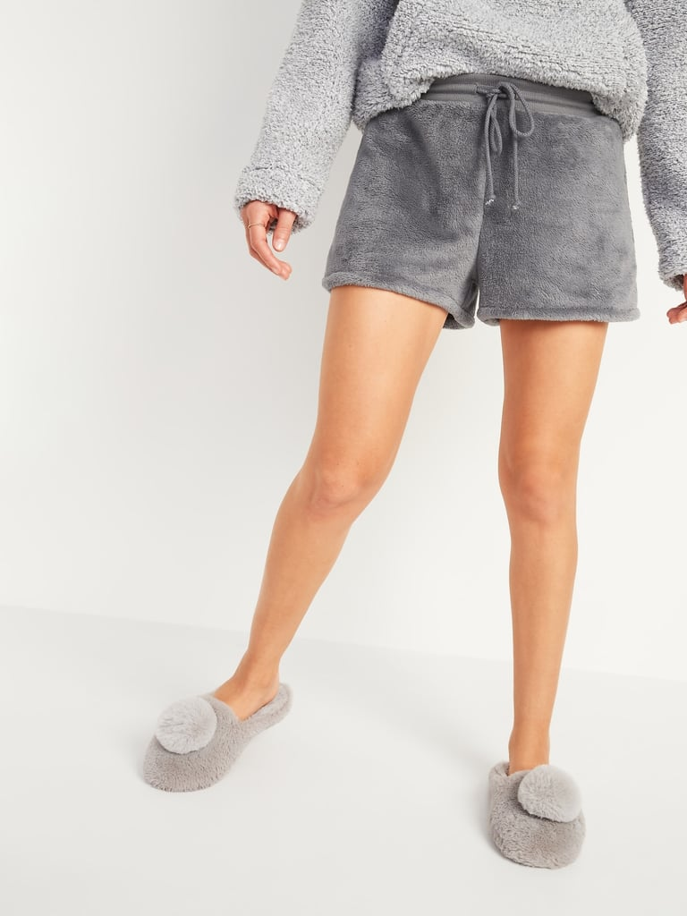 Cozy Faux-Fur Sherpa Lounge Shorts