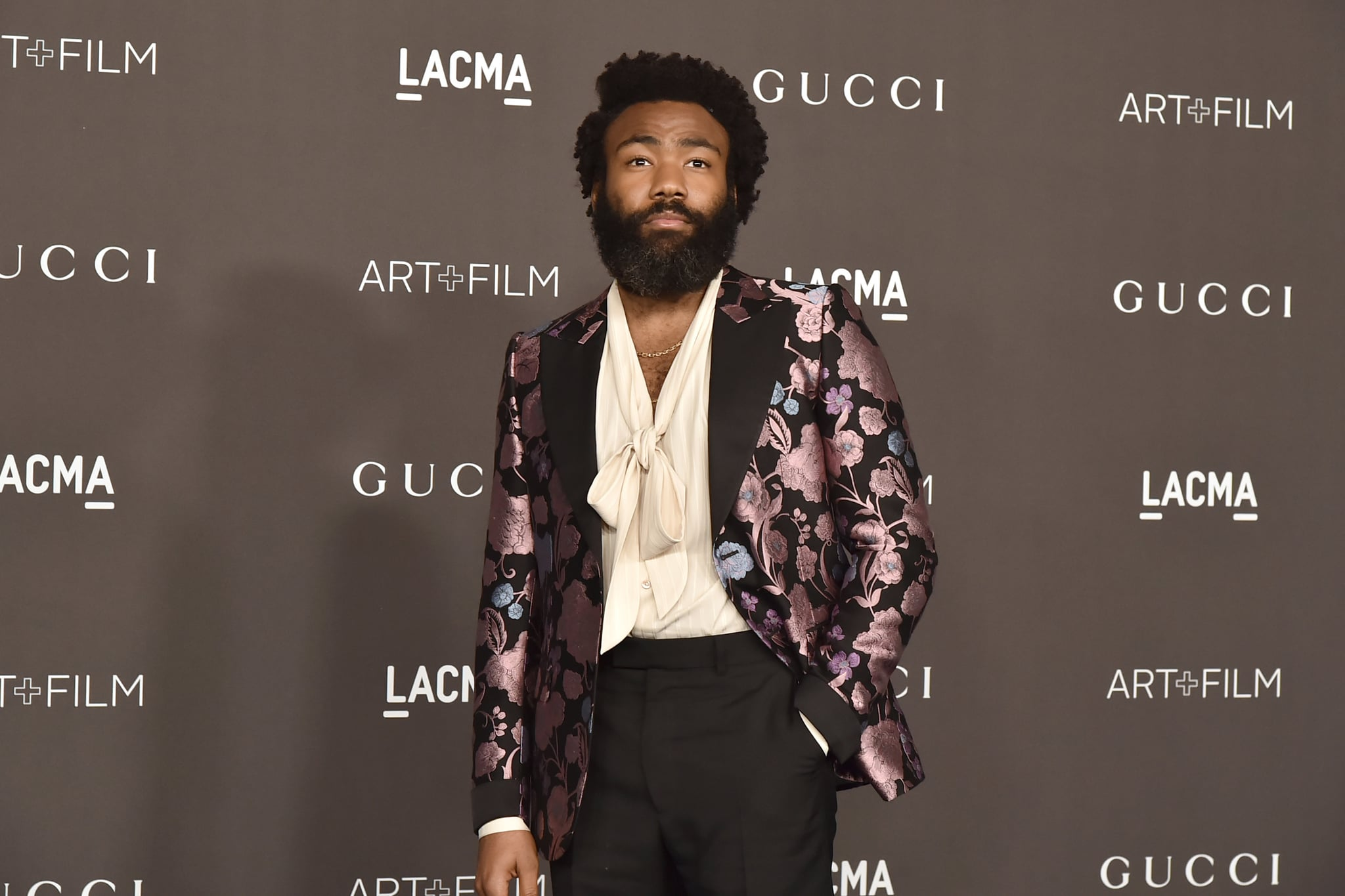 LOS ANGELES, CALIFORNIA - NOVEMBER 02: Donald Glover attends the 2019 LACMA Art + Film Gala  at LACMA on November 02, 2019 in Los Angeles, California. (Photo by David Crotty/Patrick McMullan via Getty Images)