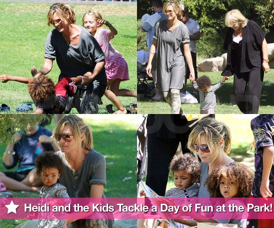 Pictures of Heidi Klum, Leni, Johan, Henry, and Lou Samuel Spending the Day at the Park in LA