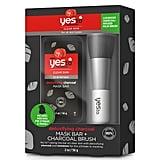 Yes To Tomatoes Detoxifying Charcoal Mask Bar + Charcoal Brush Kit