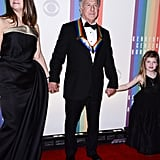 Honoree Dustin Hoffman arrived at the Kennedy Center with his family.