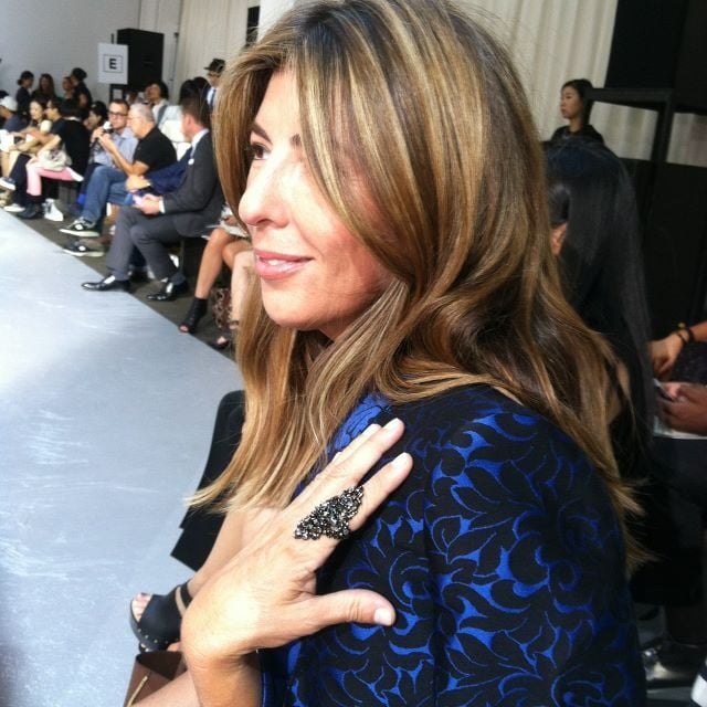 Nina Garcia showed off a fancy new ring. Source: Twitter user ninagarcia