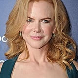 Nicole Kidman was awash with pinks wearing the rosy shade on cheeks and lips. Her medium-length hair sat just at her shoulders with a slight curl on the ends.