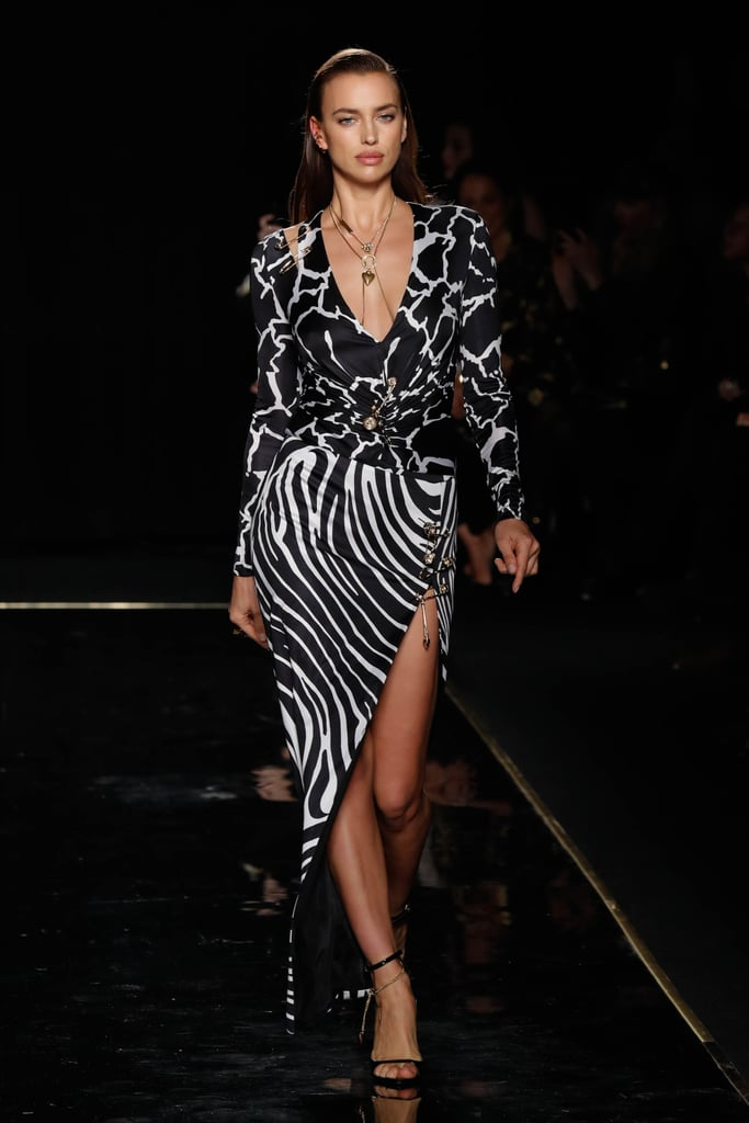 Irina Shaik Wore a Longer Version of Hailey's Dress
