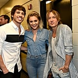 Morgan Evans, Kelsea Ballerini, and Keith Urban