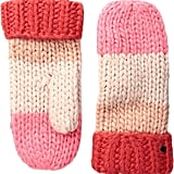Kate Spade New York Chunky Knit Color Block Mittens