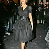 Victoria at a Giorgio Armani event in a belted fit-and-flare in 2007.
