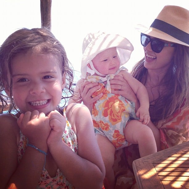 Jessica Alba With Honor and Haven