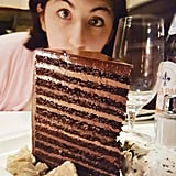 24-layer chocolate cake at Steakhouse 55