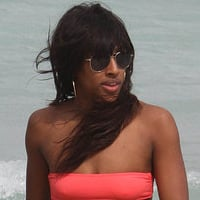 Pictures of Alexandra Burke in a Bikini in Miami