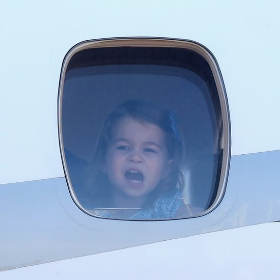 George and Charlotte Looking Out of Plane Windows Pictures