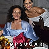 Pictured: Diane von Furstenberg and Kendall Jenner