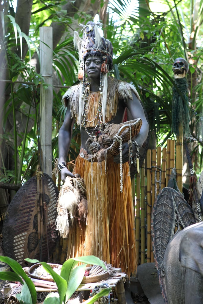 The headhunter at the end of the Jungle Cruise is named Trader Sam.
