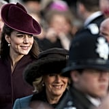 On Christmas Day 2011, Kate Middleton stood out in the crowd.