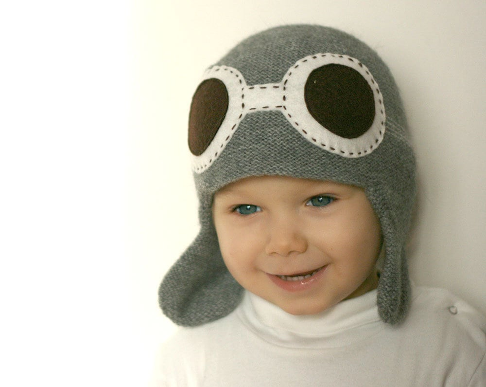 Have your little guy soaring in style, wearing this knit aviator hat ($42).