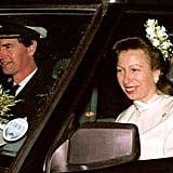 Princess Anne and Timothy Laurence The Bride: Princess Anne, the only daughter of Queen Elizabeth II. It was the princess' second marriage. The Groom: Timothy Laurence, a British naval officer. When: Dec. 12, 1992. Where: In the Church of Scotland near Balmoral. The Church of Scotland allows remarriage.