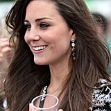Royal recommendations go both ways, and Kate has introduced Sophie to the work of Zimbabwean designer Patrick Mavros. Kate first came across Patrick when she was designing jewelry for Jigsaw, and wore a pair of his silver Ndoro drop earrings (seen here) several times before she was married, and a pair of silver crocodile earrings in New York. Sophie wore the brand for the first time in 2013, choosing the Zozo elephant pendant and later the matching earrings.