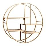 Golden Round Asymmetrical Wall Shelf
